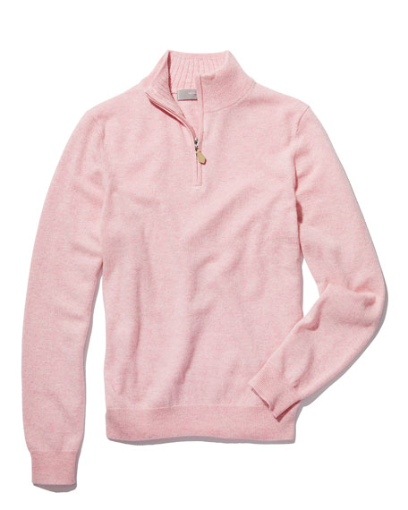 Half-Zip Cashmere Sweater