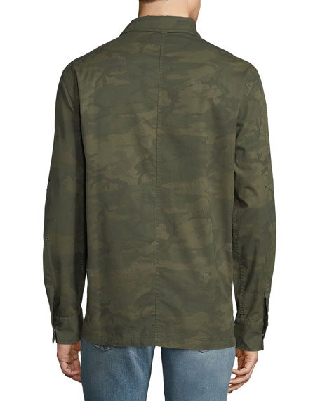 Distressed Military Overshirt