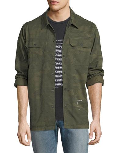 Distressed Military Overshirt