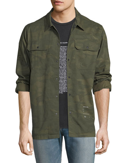 Ovadia & Sons Distressed Military Overshirt