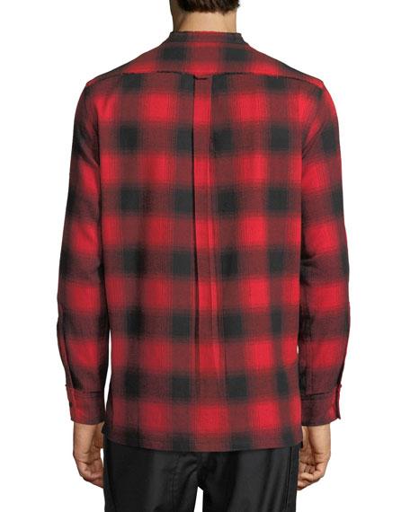 Crosby Raw-Edge Plaid Shirt