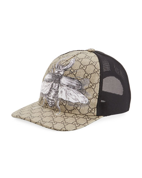 Gucci Insects Print GG Supreme Baseball Hat