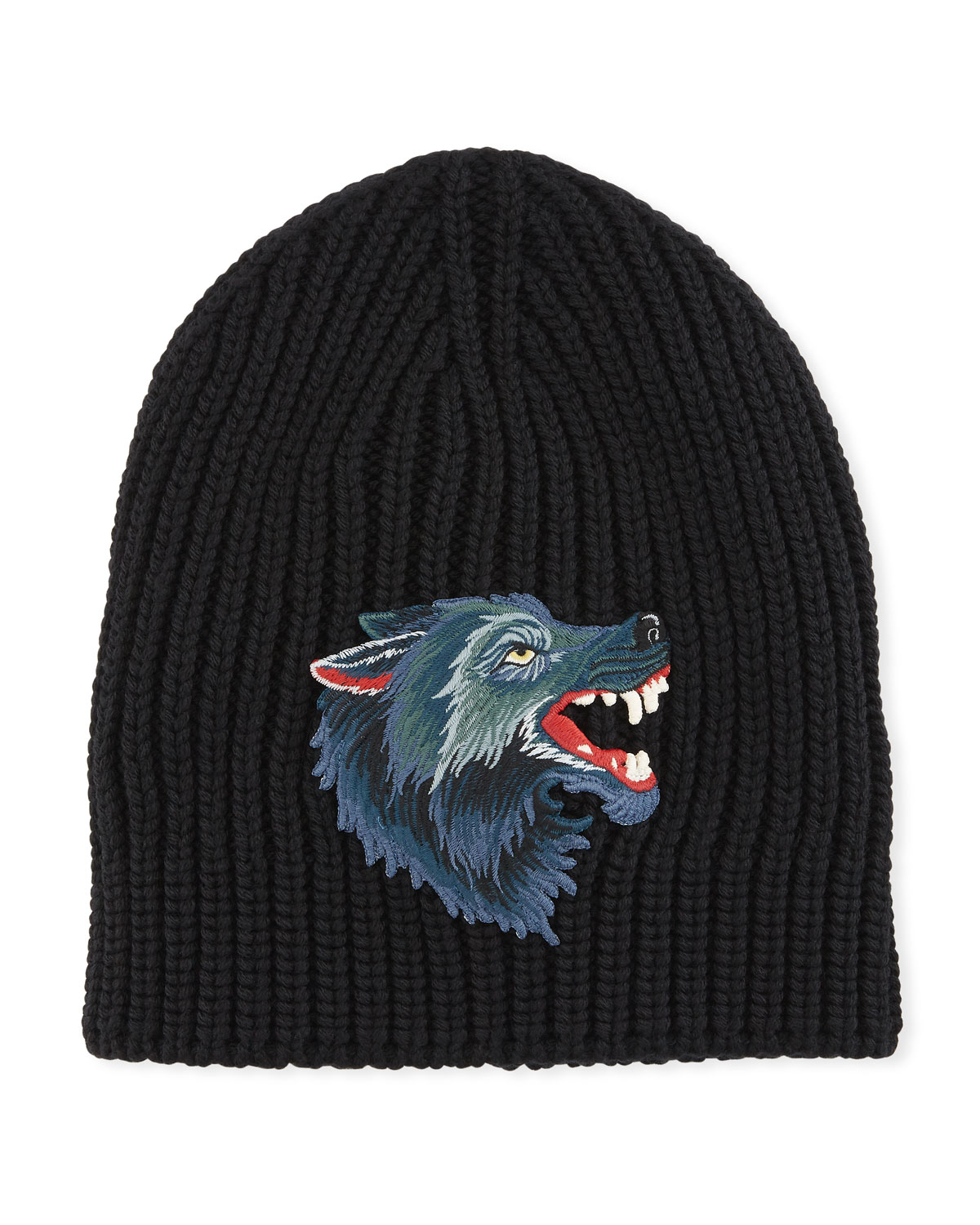 Gucci Wool Hat with Wolf  8ebffa93027