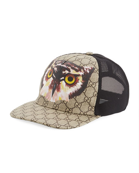Gucci Insects-Print GG Supreme Baseball Hat