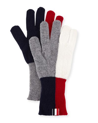 Wool Funmix Intarsia Knit Gloves
