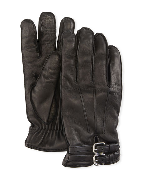 Guanti Giglio Fiorentino Belted Napa Leather Gloves with