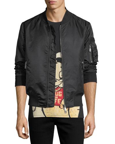 AC/DC Nylon Bomber Jacket