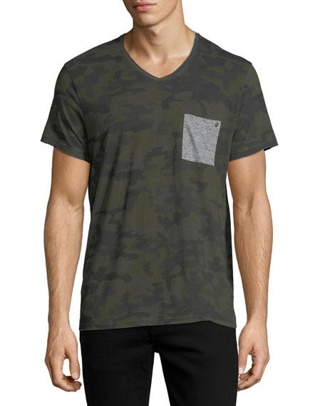 Eleven Paris Camouflage Pocket T-Shirt