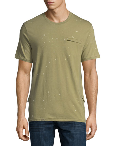 Eleven Paris Paint-Splattered Jersey T-Shirt