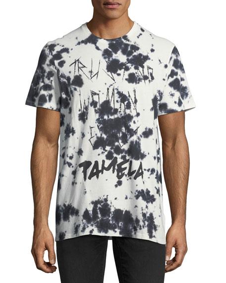 Eleven Paris Deep-Dye Ink Blot Graphic T-Shirt