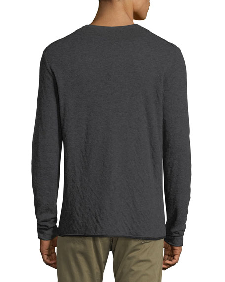 Tripp Crewneck Double-Knit Pullover