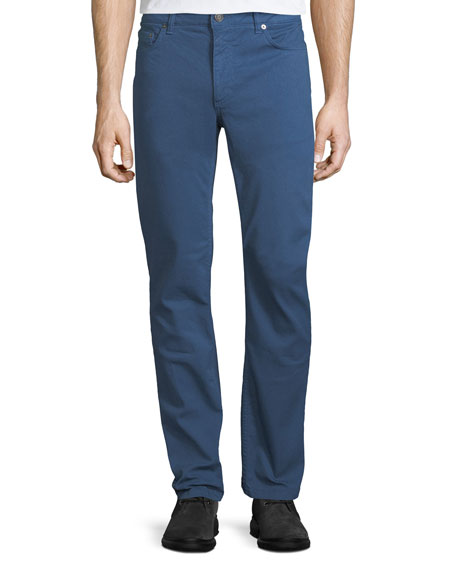 Salvatore Ferragamo Garment-Dyed 5-Pocket Denim Pants