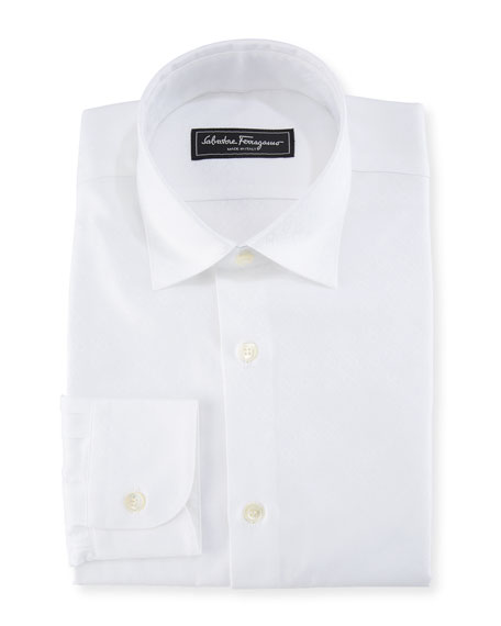 Salvatore Ferragamo Men's Cotton Gancini-Jacquard Sport Shirt