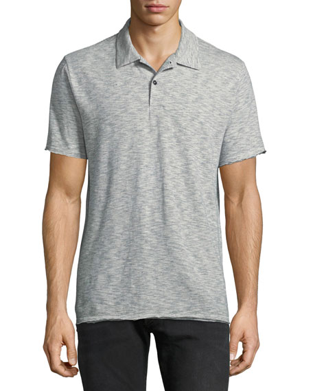 Owen Striped Cotton-Linen Polo Shirt