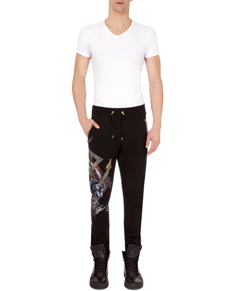 Balmain Rock n' Roll Logo Sweatpants