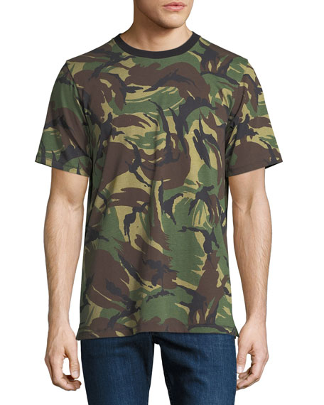 Camouflage Ringer T-Shirt