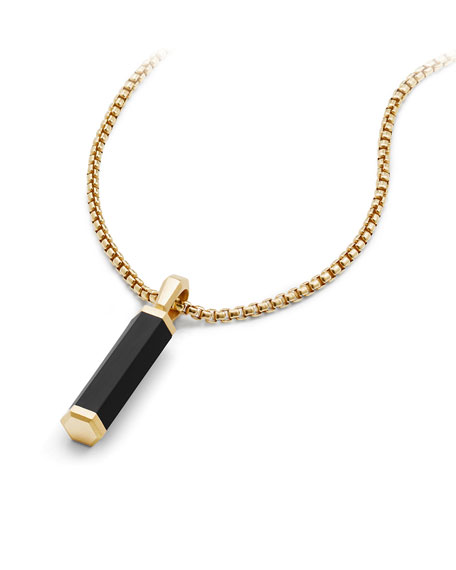 Men's Hex 18k & Rubber Pendant Enhancer