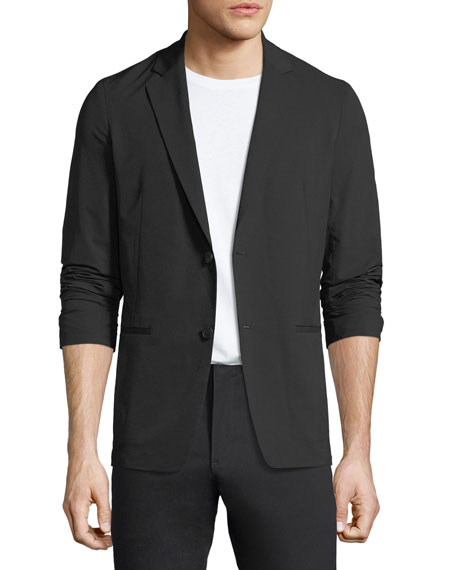Tailored Semi-Tech Wool Blazer