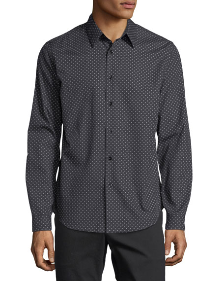 Theory Stitch-Print Cotton Sport Shirt