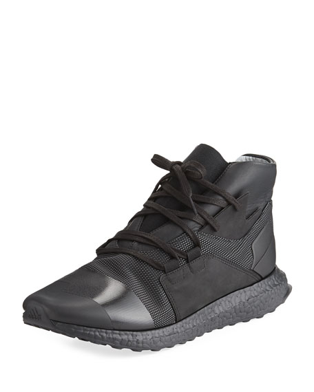Y-3 Men's Kozoko High-Top Sneaker, Black/White
