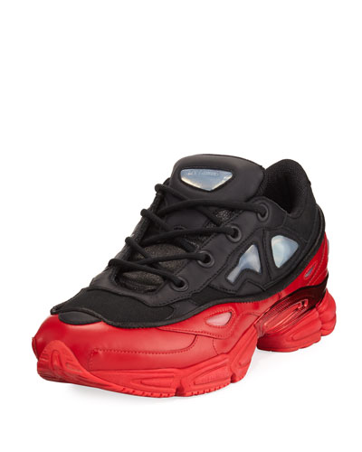 Men's Ozweego III Trainer Sneaker, Black/Red