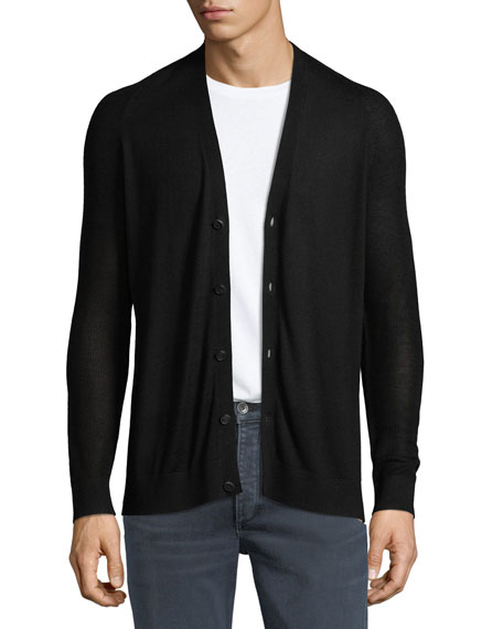 Theory Admiral Banes Silk-Cashmere Cardigan