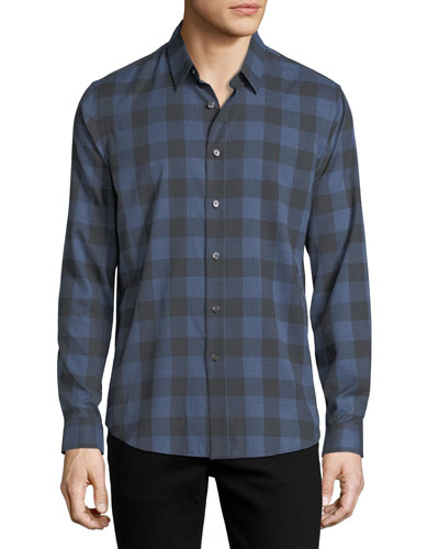 BRUSHED CHECK CLEAN PLACKET