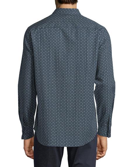 Leilan Printed Cotton Sport Shirt
