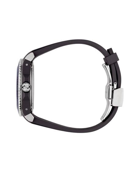 40mm Gucci Dive Tiger Watch w/ Rubber Strap, Black/Yellow