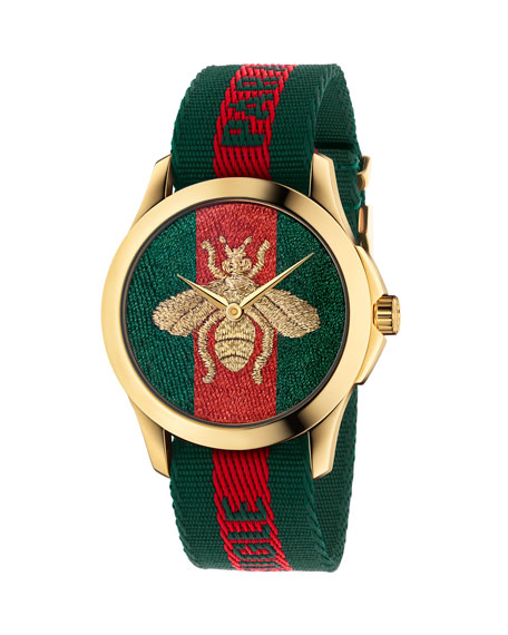 Gucci 38mm Le March?? Des Merveilles Bee Watch