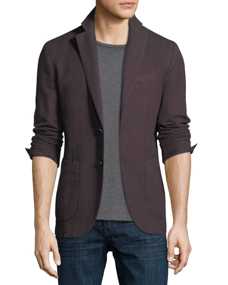 Herringbone Two-Button Blazer