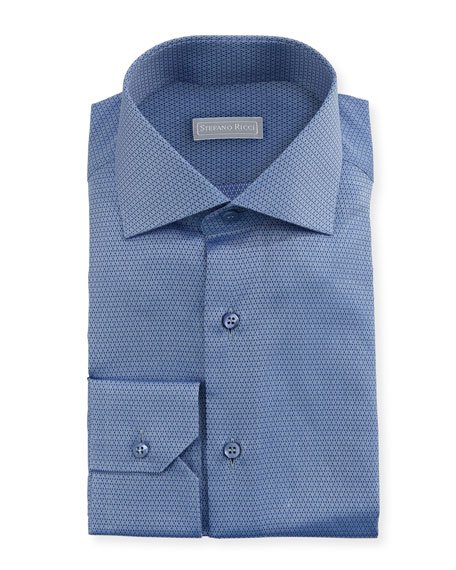 Small Neat Woven Dress Shirt by Stefano Ricci