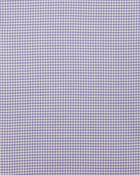 Micro Houndstooth Cotton Dress Shirt