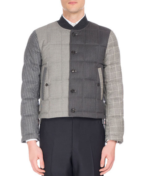 Thom Browne Suiting Wool Puffer Jacket