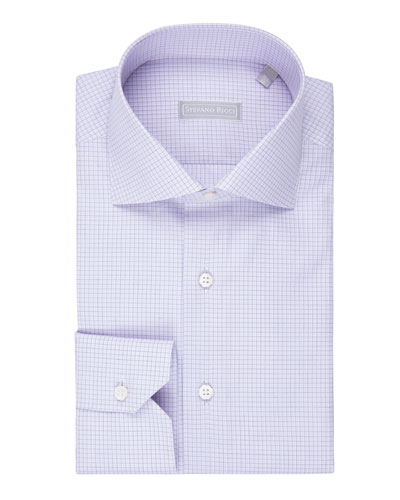 Grid-Check Dress Shirt