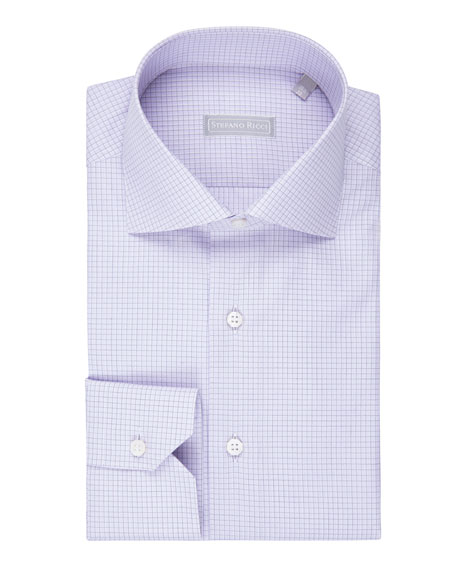 Grid-Check Dress Shirt