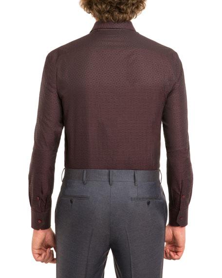 Tonal Jacquard Dress Shirt