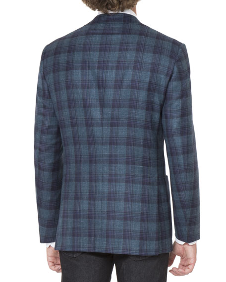 Plaid Two-Button Sport Jacket