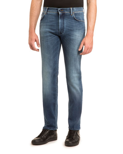 JEAN WITH GOLD STITCH AND FA