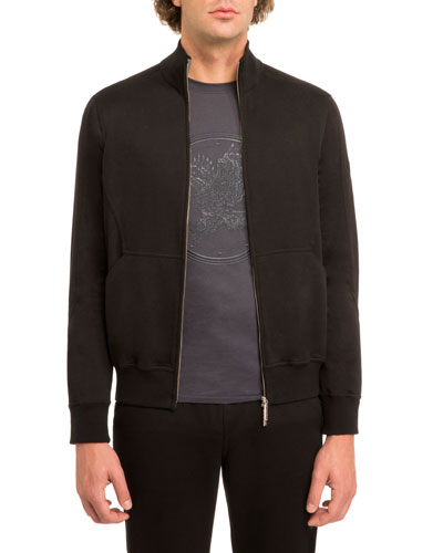 Stefano Ricci Embroidered Eagle Track Jacket