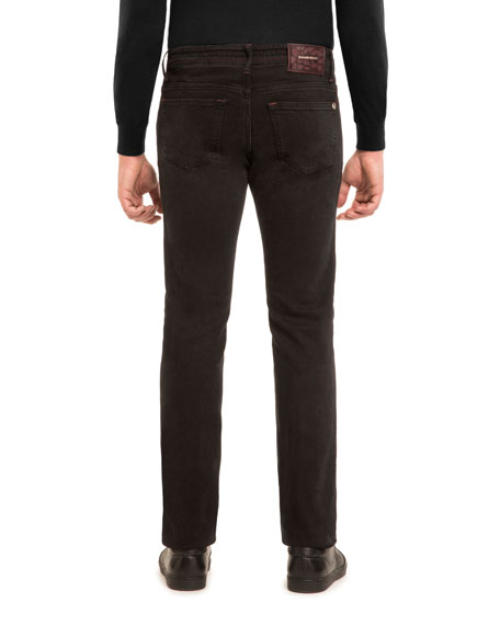Slim-Straight Stretch-Denim Jeans
