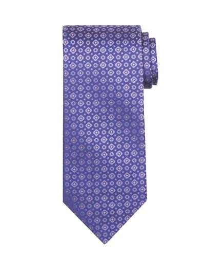 Tonal Circle & Square Silk Tie