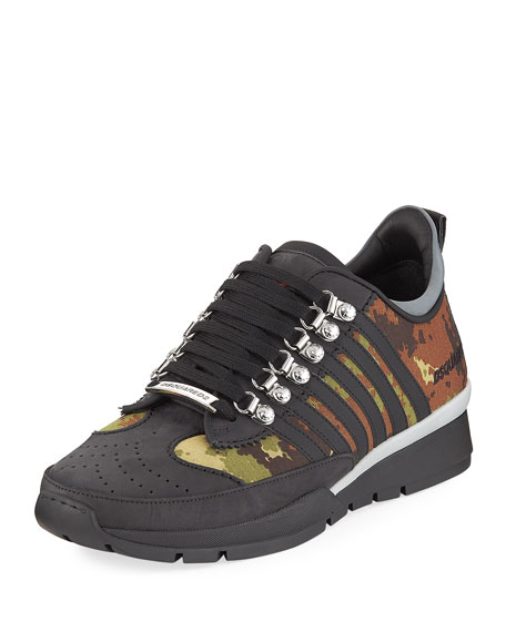 Dsquared2 Men's 251 Sneaker w/ Camo Print