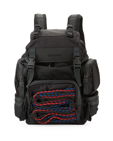 Dsquared2 Akira Men's Backpack w/ Cording Detail