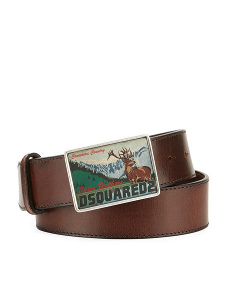 Canadian Country Leather Belt