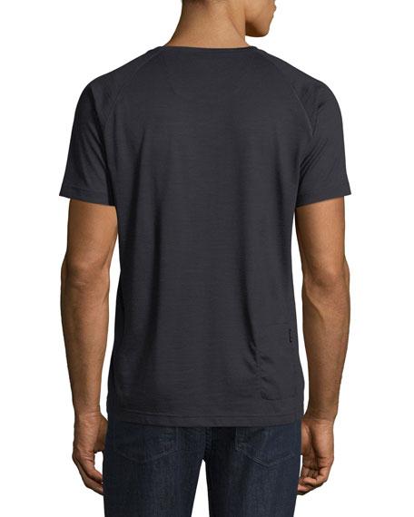 Techmerino Jersey Short-Sleeve T-Shirt, Dark Blue