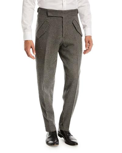 Jacquard Check Trousers