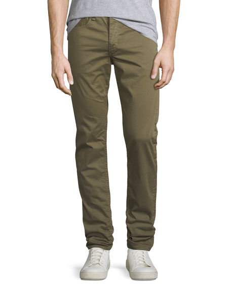 Standard Issue Fit 2 Mid-Rise Relaxed Slim-Fit Pants, Army