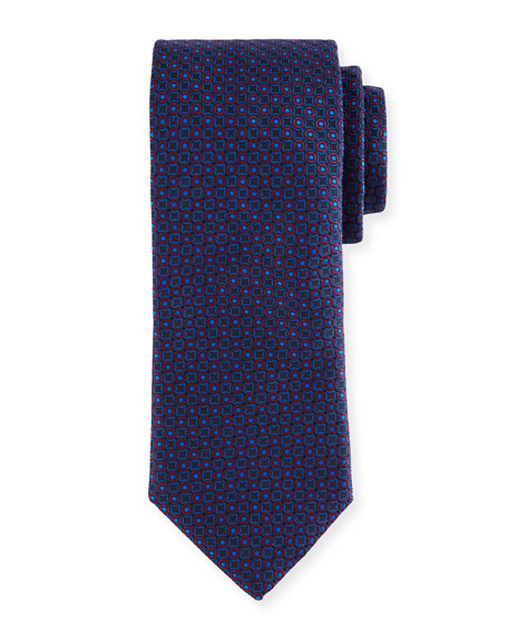 Canali Two-Tone Circles Silk Tie