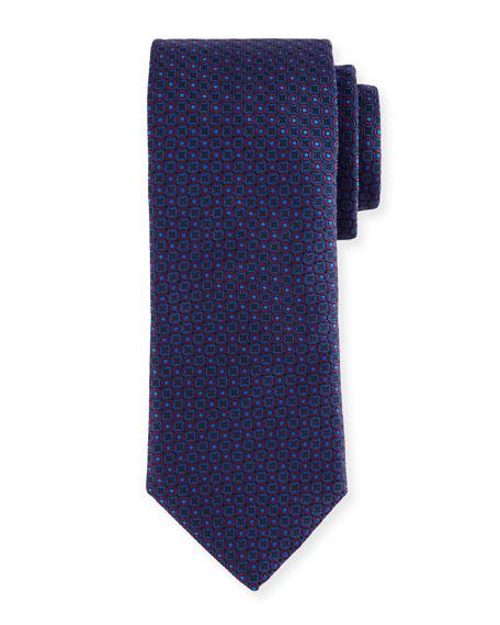Two-Tone Circles Silk Tie